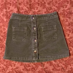Toddler girl corduroy olive green skirt 3T